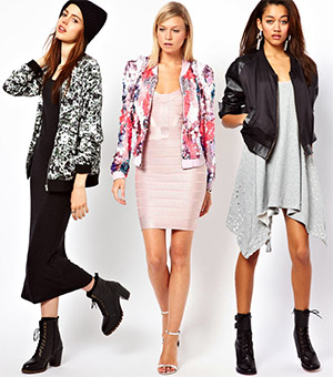 How to Wear Bomber Jackets over Dresses - YLF