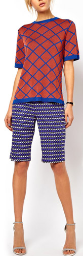 ASOS City Shorts in Geo Print