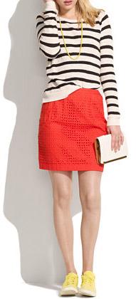 Eyelet Trail Skirt