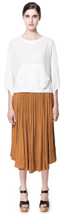 Flowing Mid-Length Skirt