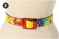 Kate Spade New York Reversible Printed Trouser Belt