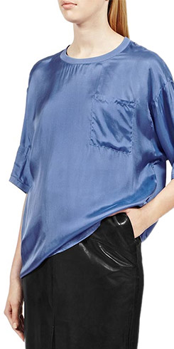 Lilou Over Size T-Shirt Blueberry