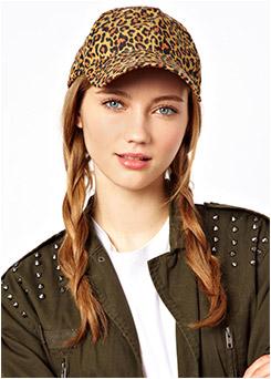 Pieces Greta Leopard Print Cap
