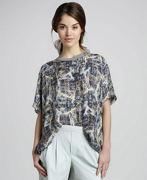 Theyskens Theory Bonit Silk Tee