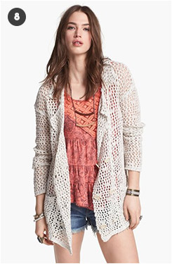 Free People Krispy Mesh Peacoat