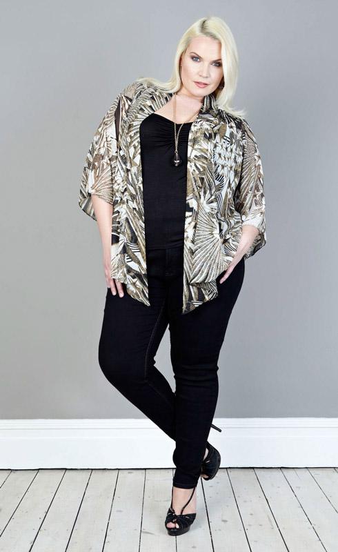 Georgette Kimono Jacket