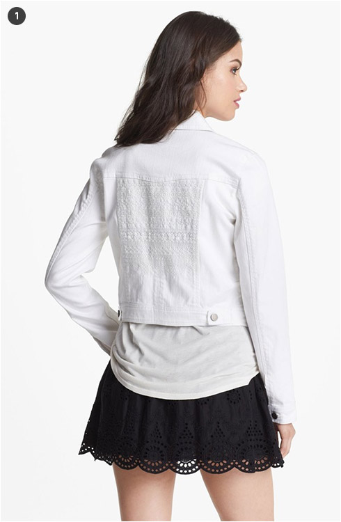 Hinge Embroidered Denim Jacket