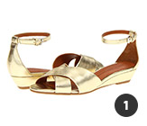 Marc Jacobs Clean Metallic Wedge