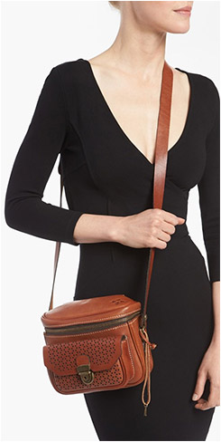 Patricia Nash Andalucia Perforated-Leather Crossbody Camera Bag