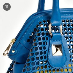 Perforated Faux Leather Shoulder Bag