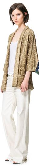 Printed Velvet Kimono