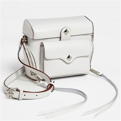 Rebecca Minkoff Craig Crossbody Camera Bag - White