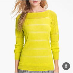 Sheer Stripe Sweater