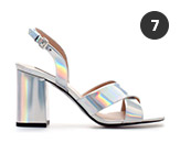 Zara Crossover Sling Back Hologram Sandal