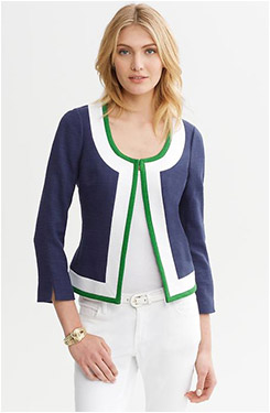 Banana Republic Piped Collarless-Jacket