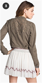 Free People Cutwork Linen Blend Jacket