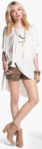 Free People Tee & Shorts