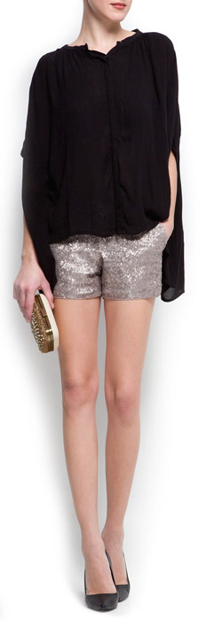 Mango Mini Sequins Shorts