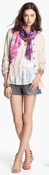 Olive& Oak Jacket, Bellatrix Top and J Brand Shorts