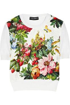 Paneled Silk Blend Sweater
