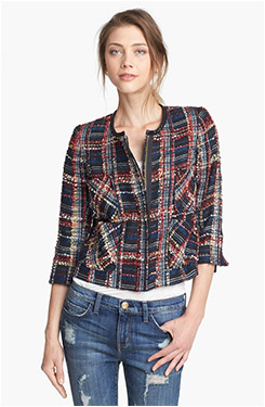 Smythe Plaid Bouclé Jacket