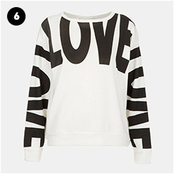 Topshop Love Sweatshirt