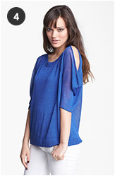 Trouve Cold Shoulder Sweater