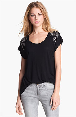 Two by Vince Camuto Stud Jersey Tee