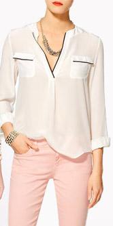 Zoa Silk Pajama Blouse