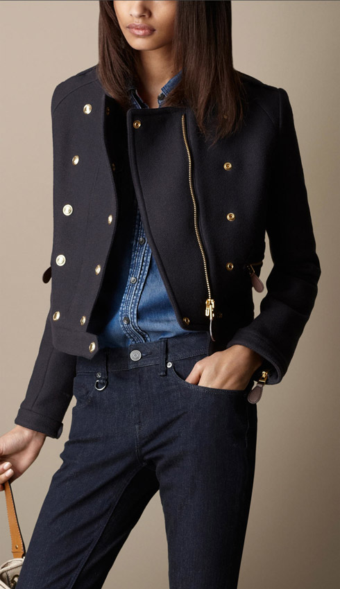 Burberry Wool Twill Military Jacket