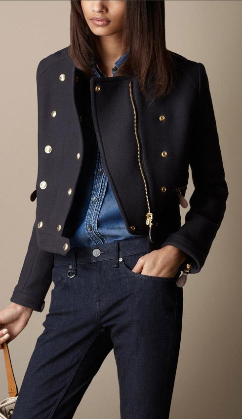 Burberry Wool Twill Military Jacket