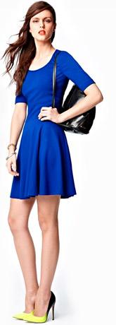 Eliza J Seamed Skater Dress