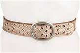 Fossil Floral Perforated Strap Belt