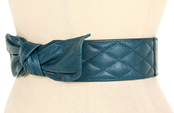 Lodis Accessories Abbot Kinney Quilted Bow High Waist Belt