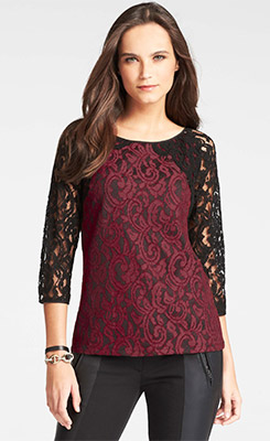 Ann Taylor Moonlight Lace Top