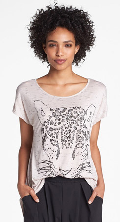 Bobeau Beaded Animal Tee