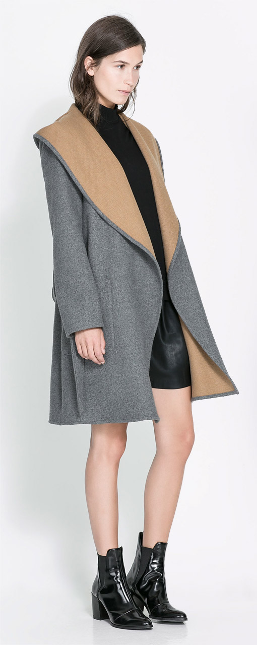 Zara Hooded Wool Coat