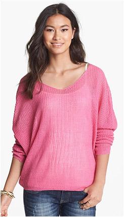 Painted Threads Oversized V-Neck Sweater