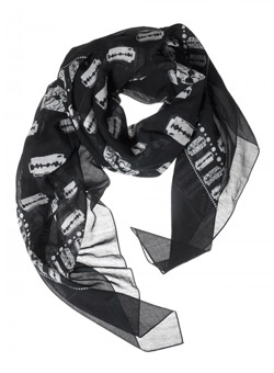 Razor Blade Scarf in Black and White
