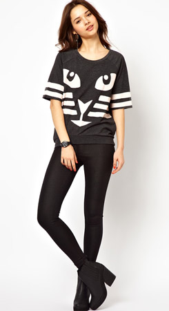 River Island Cat Sweatshirt