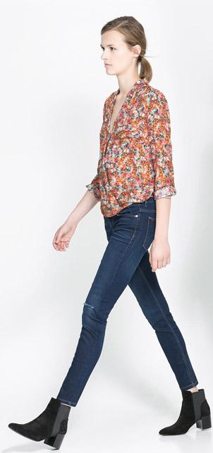 Zara Skinny Blue Jeans