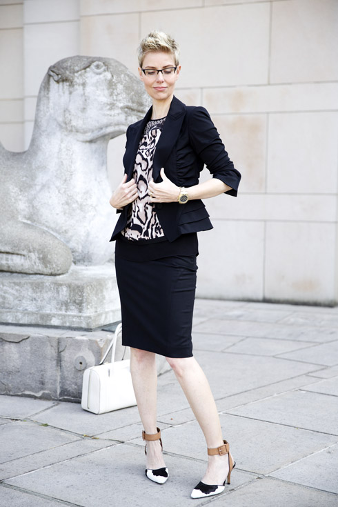 Skirt with Suit Jacket