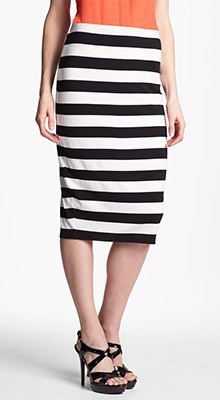 Stripe Midi Tube Skirt