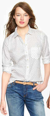 Tailored Dot Print Shirt