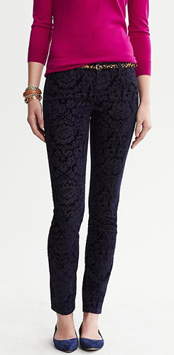 Banana Republic Flocked Skinny Jeans
