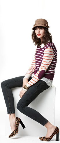Halogen Sweater, Lucky Brand Shirt & Paige Denim Jeans