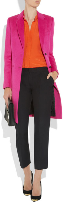 Joseph Man Wool and Cashmere Blend Coat - Pink