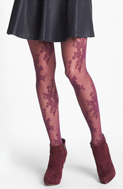 Lace Bouquet Tights