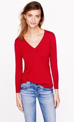 Lightweight Merino V-Neck Sweater