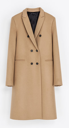 Zara Masculine Double Breasted Coat